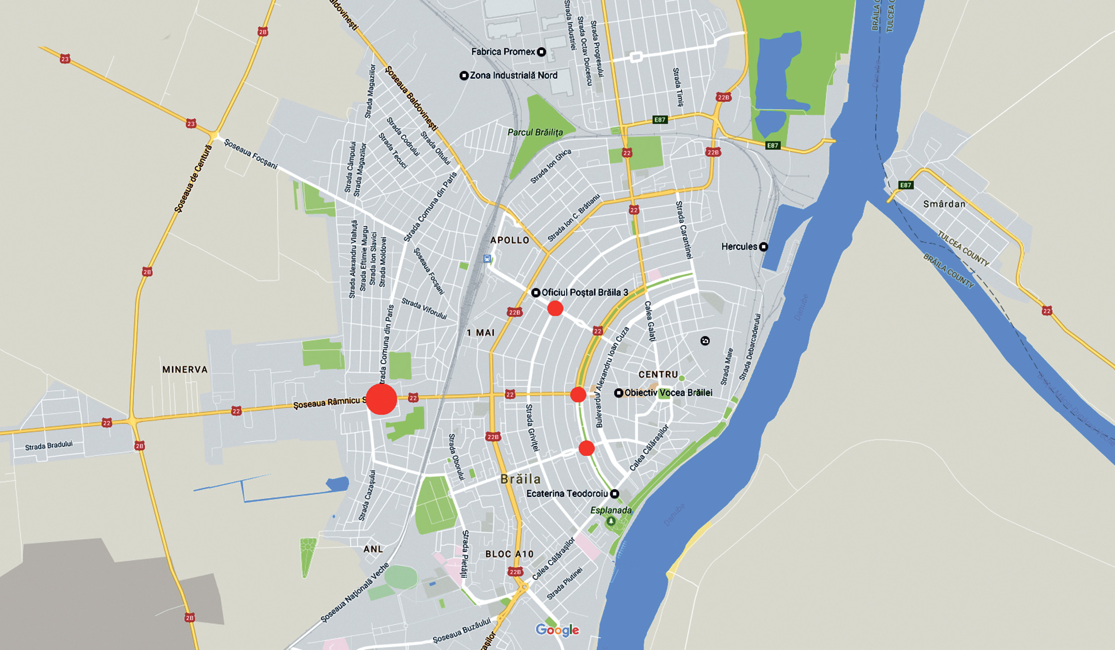 Harta Insangerată A Brăilei Obiectiv Vocea Brailei